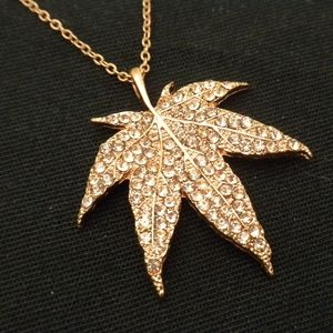 Jewelry - Pretty Crystal Leaf Necklace